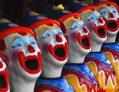 Carnival Clowns (marty_pinker) Tags: toronto ontario cne midway clowns canadiannationalexhibition theex blogto flickrsbest colorphotoaward aug2008
