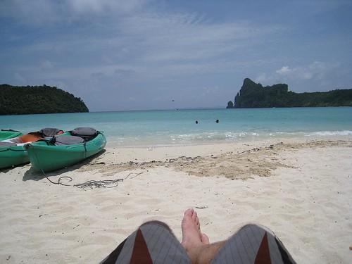 The main beach on Koh Phi Phi Don