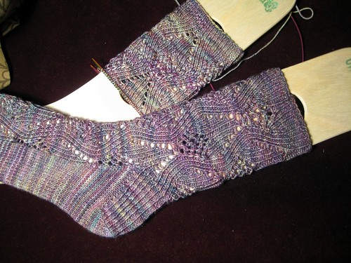 Ravelympics socks - almost done