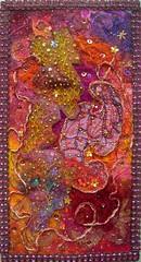 Terre de Feu (Karen Cattoire) Tags: textileart beading colorful abstract collage fiberart textiledart karencattoire creation abstrait fibretextile tissu fabric arttexilte handmade originalart art original texture fibers