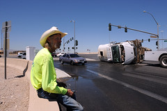 I-95 Accident (bumpkin78) Tags: las vegas truck cowboy nevada