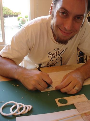 Balsa Man Build - cutting the rings