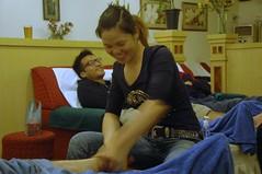 Fun With Feet (becklectic) Tags: china feet face ian foot asia yangshuo massage prc 2007 guangxi footmassage views100 worldtrekker 1207dsc0337a