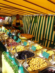 French market in Edinburgh 9 (byronv2) Tags: street man french scotland edinburgh market olives newtown rue march franais marche francais ecosse edimbourg frenchedinburgh edimbourgfrancais