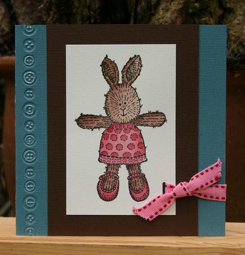 a cuddly rabbit/een knuffelkonijntje
