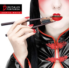 Digitalis Purpurea - cover cd (annalucylle) Tags: red white black japan japanese geisha cdcover cyberpunk digitalispurpurea seaofsin