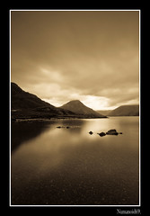Wastwater. (numanoid69) Tags: lake mountains sepia landscape nationalpark lakedistrict cumbria fells wastwater almostanything nikond300 prideofengland distinguishedblackandwhite