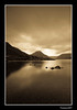 Wastwater. (Julian Scott Photography) Tags: lake mountains sepia landscape nationalpark lakedistrict cumbria fells wastwater almostanything nikond300 prideofengland distinguishedblackandwhite