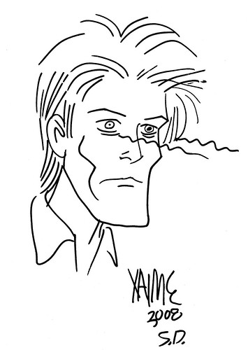 david bowie by jaime hernandez