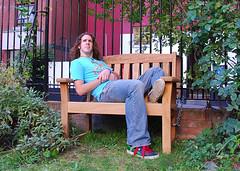 Day 246/365 13 September 2008: Just Me (Mister J Photography) Tags: selfportrait london bench 365days 10secondtimer phoenixgarden onebenchjustyou