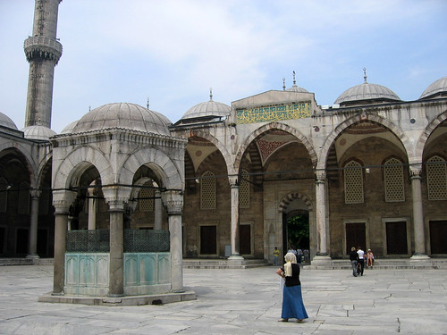 Inner courtyard of Sultan Ahmed Mosque