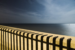 Defences (Alex Bamford) Tags: ocean sea moon fence sussex shadows harbour fullmoon explore moonlit moonlight shoreham moonlighting interestingness18 explored i500 alexbamford thebigbambooly wwwalexbamfordcom
