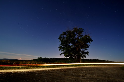 Sessions Hill Road at Night (by john_brainard)