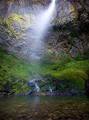 Ethereal Summer Flow (Ar'alani) Tags: summer nature oregon landscape waterfall columbiarivergorge canon1022mm elowahfalls hoyamoose