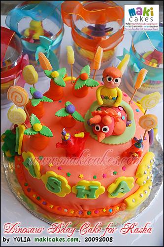 Dinosaur Bday Cake for Rasha - Maki Cakes