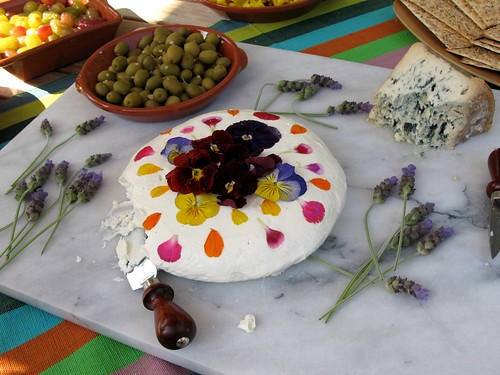 Goat Cheese, Olives and Bleu du Auvergne