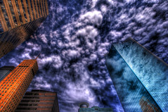 Another Minneapolis Skyline :: HDR (MDSimages.com) Tags: minneapolis minnesota skyline hdr saturation clouds buildings architecture nrc glassbuildings nikon photomatix mdsimages photomike07 mdsimagescom michaelsteighner hyliteproductions hylitecom photography processing digital media blog world travel northamerica unitedstates usa america midwest mid west hennepincounty cityoflakes millcity urban metropolitan city skyscrapers buidling business sky glass reflection concrete modern august 2008 nikond300