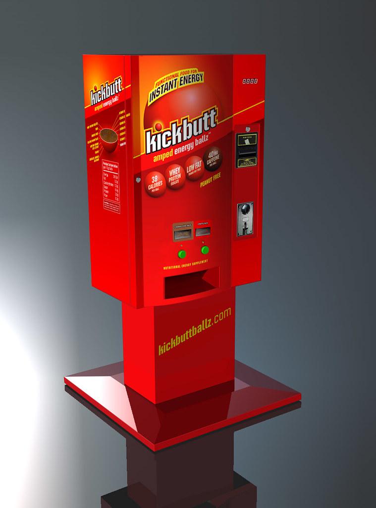 Kickbutt Amped Energy Ballz Dispensing Machine