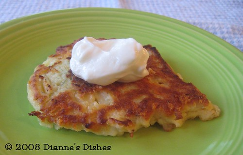 Dill and Cheddar Potato Cakes