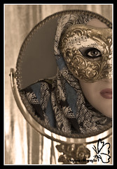 The Mask (Najwa Marafie - Free Photographer) Tags: model artist photographer mask amal makeup free kuwait 2008 nada the alsaad colorphotoaward impressedbeauty nonoq8 sanfora marafie