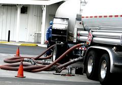 Tanker Truck Refuels