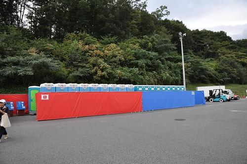 F1富士:元東シャトルバス乗り場(2008:大雄山行きバス乗り場)仮設トイレ