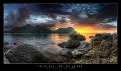 Lanah Bay, Phi Phi Island (d.r.i.p.) Tags: longexposure travel panorama beach night germany thailand island deutschland bay nikon asia nightimages phi nacht widescreen drip thai bluehour koh 180 hdr phiphiisland hdri nachtaufnahme 18mm photomatix d80 hdrpanorama vertorama coloursplosion lanahbay