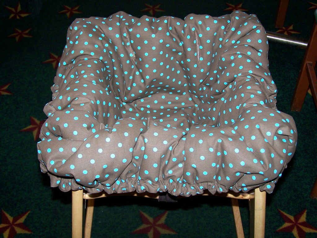 Mint Dot High Chair Cover