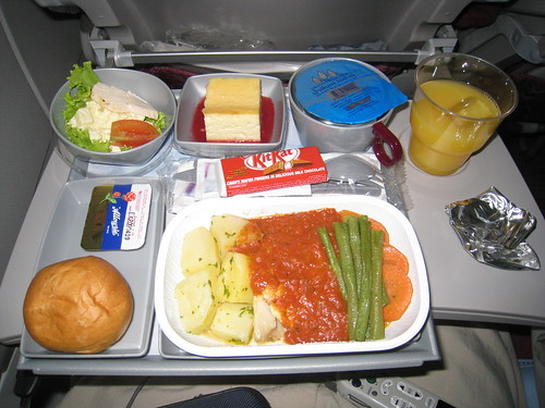 Air Qatar earns points for a great dinner