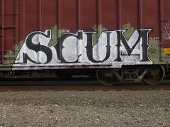 SCUM (lippert61) Tags: paint scum streaks gaffiti everett trainart railart monikers
