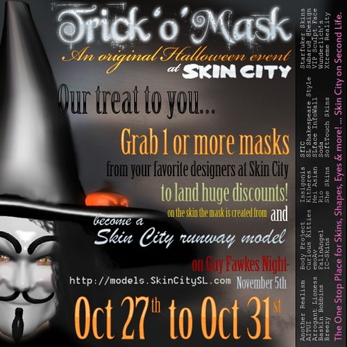 Trick o Mask at Skin City 10 27 to 10 31