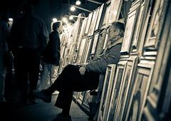 The Artist Between The Art (Matteo Crema) Tags: street old people man art painting artist arte shots paintings quadro uomo tele trieste artista vecchio quadri tela