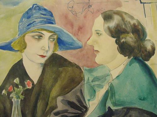 Rudolf Schlichter - Zwei sitzende Frauen 1926