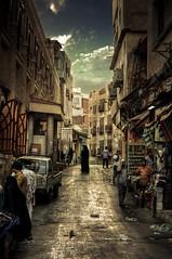Urban Figures (Khaled A.K) Tags: urban photography golden sa jeddah f8 saudiarabia khaled hdr 50mmf14 lightroom ksa nikond300 oldjeddah kashkari shutterspeed160