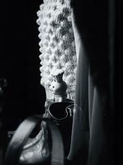 (j o u r n e y) Tags: bw luz alone solo bimbo mueco vidriera ropa contento