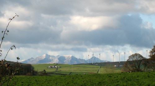 Busbie Muir windfarm and Arran
