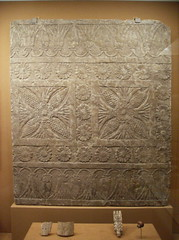 Threshold pavement slab with a carpet design (peterjr1961) Tags: nyc newyorkcity newyork art museum met nineveh metropolitanmuseumofart assyrian neoassyrian