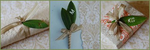 monogrammed leaves