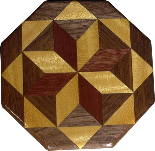 Satinwood – Purpleheart and Walnut Trivet