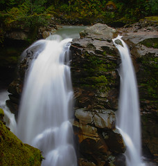 Split Decision (dancingshiba) Tags: longexposure water waterfall rocky northcascades explored nooksackfalls karmapotd karmapotw