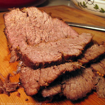 braised beef sliced