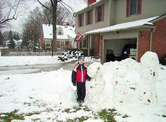 Building a snow family in Southeast Michigan