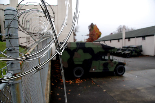 Razor Wire and Humvees