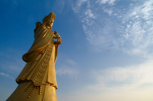 Statue of the goddess Tian Hou (Mazu) at Qingdao, China