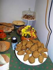 autumn foods. (stephiblu) Tags: november autumn party guests fun nj montclair 2008 autumnball autumnball2008 tichenortichenors