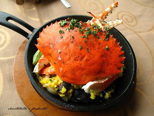 深坑葡萄樹莊園香醇番紅花海鮮蟹肉燉飯
