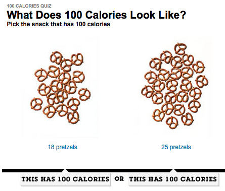 Portion Control – Can You Spot 100 Calories?