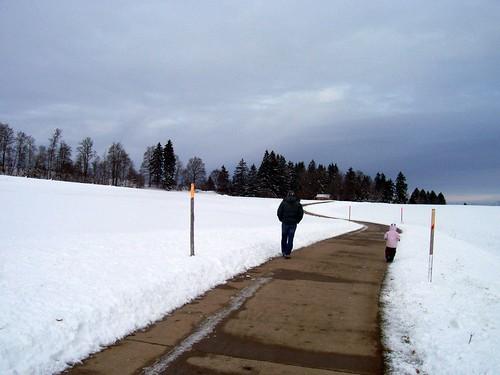 notre village sous la neige
