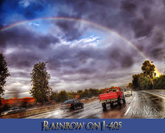 rainbow on i-405 (Kris Kros) Tags: california road ca red usa cloud storm wet water car rain weather cali photoshop truck photography gold high rainbow searchthebest dynamic pickup stormy 405 pot freeway kris i405 2008 range hdr kkg lanes wetroad on cs3 photomatix kros kriskros 1xp of kkgallery