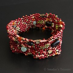 Freeform Beadwoven Bracelet (Smadar's Treasure) Tags: jewelry bracelet beaded bao seedbeads beadweaving ebw beadwoven ebwteam beadartoriginals